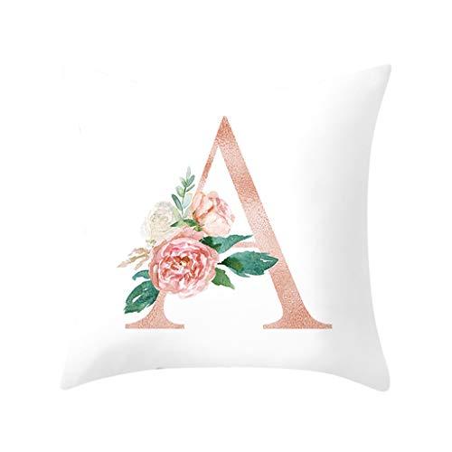 Zierkissenbezüge Brief Kissen Alphabet Kissenbezug für Sofa Home Decoration Flower Kissenbezug Küche Haushalt Wohnen Heimtextilien Bad Bettwaren Zierkissen hüllen Zierkissen