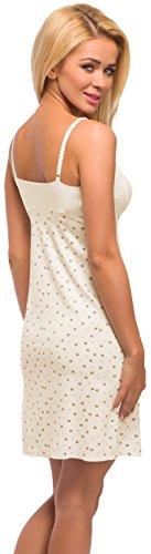 Merry Style Damen Nachthemd Modell 979 Ecru