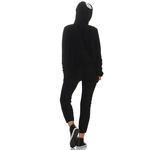 LBB Damen Jumpsuit Einteiler Overall Tier Anzug Kostüm Jogger Kigurumi Königspinguin