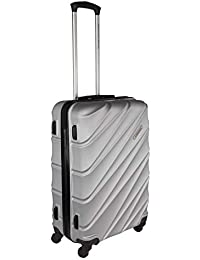 2e673173cc36 United Colors of Benetton Roadster Hardcase Luggage ABS 68 cms Silver Grey  Hardsided Check-in