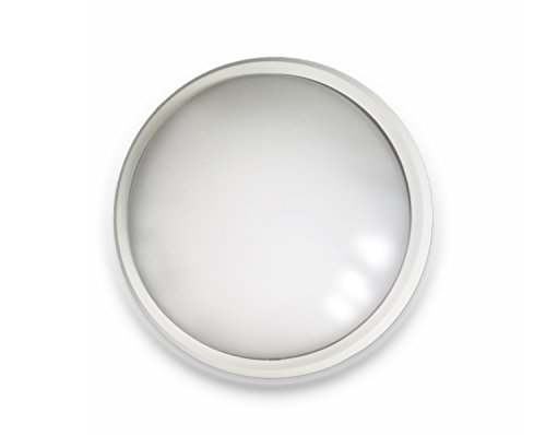 d Light LBHR1424S Deckenleuchte Deckenlampe mit Bewegungssensor Bewegungsmelder spritzwassergeschützt IP44 24W 4000K Kaltweiß Ø35,5cm perfekt für Flur Keller Waschküche (Led-bulk)