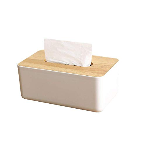 AsDlg Tissue-Box-Halter, japanische Eiche Tissue-Box einfache kreative ländlichen Stil Büro Wohnzimmer Abnehmbare Gewebe Aufbewahrungsbox Gesicht Tissue Box