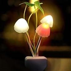 Everything Imported Everything Imported Mushroom Shape Automatic Sensor Light (White And Black)
