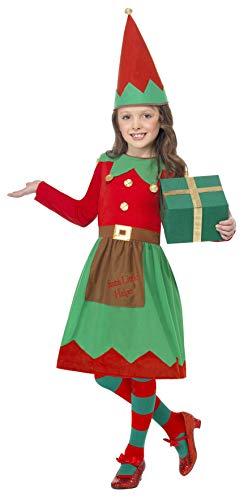(Smiffys, Kinder Mädchen Elfen Kostüm, Kleid und Mütze, Größe: L, 39104)