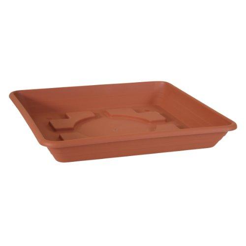 Testrut Untersetzer, Kunststoff, eckig, Terrakottaoptik, Rot, ca. 50 x 50 x 7 cm