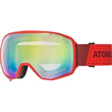 ATOMIC Unisex – Erwachsene Count 360 Goggles, Rot/Pink-Gelb Stereo, One Size