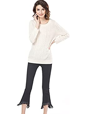 Knitbest - Jerséi - para mujer beige Marfil X-Large