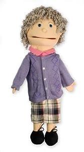 The Puppet Company Puppet Buddies-Marioneta Mediano Abuela Marioneta de Mano con luz Tono de la Piel