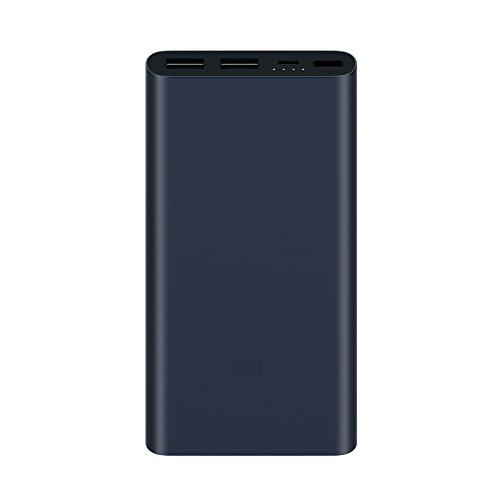 Mi Power Bank 2S (Blue-Black), 10.000mAh, Aluminiumgehäuse, Schnellladetechnologie, Statusanzeige für Ladestand und -funktion, 2x USB-A, 1x Micro USB, Entlademodus