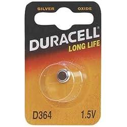 """DURACELL pile oxyde argent pour montres""""Watch"""" 364 (SR60) 1,5 Volt"""