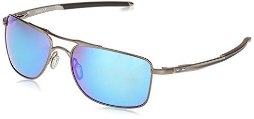 Oakley Herren Gauge 8 Sonnenbrille, Grau (Matte Gunmetal/Prizmsapphirepolarized), 57