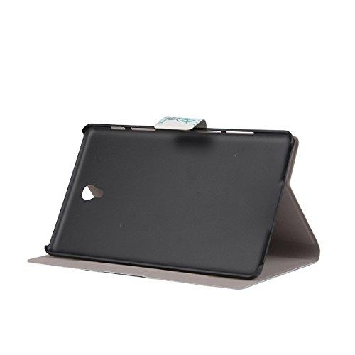 Samsung Galaxy Tab S 8.4 T700 étui à Rabat avec Support,Samsung Galaxy Tab S 8.4 Housse,Ekakashop Dessin Animé Motif Dessin de Hibou PU Cuir Protecteur Shell Case Tablette Couverture Protective Covers Article Feuilles