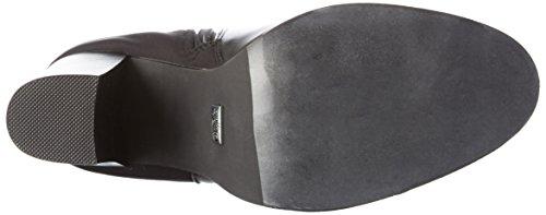 BuffaloB109D-161 P1735A F0016A PU RUB - Stivali alti da Donna Nero (Black 33)