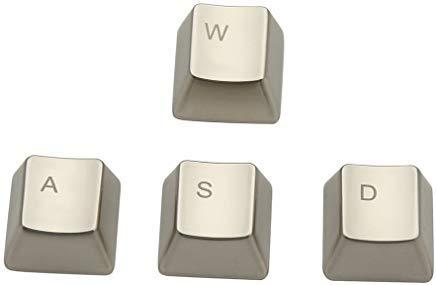 wesappinc Metall Tastenkappe qwerasdf 8Key Cap für Cherry MX Switches und kailh Schalter Mechanische Tastatur Gamer Tastenkappen Ersatz WASD keycap (Switch-entferner Tastatur)