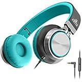 Artix Faltbare Kopfhörer mit Mikrofon, NRGSound CL750 Kompakte On-Ear Stereo Ohrhörer, Ideal für Kinder/Jugendliche/Erwachsene (Türkis)