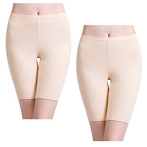 wirarpa Pantaloncini Sottogonna Boxer Donna Cotone Vita Alta Mutande Shorts Elasticizzati Taglia S XXXL