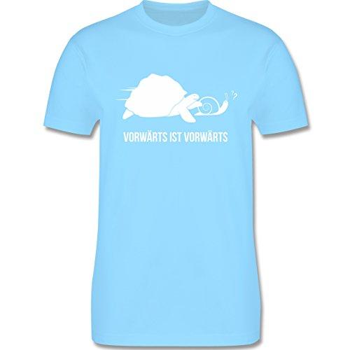 Laufsport - Vorwärts ist vorwärts - Herren Premium T-Shirt Hellblau