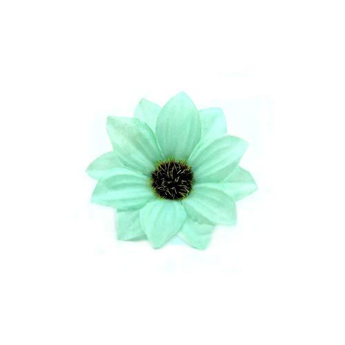 30Pcs 6Cm Gerbera künstliche Blumen-Zuhause-Party-Dekoration Scrapbooking Zubehör Kranz DIY Craft Fake Flowers, Tiffany