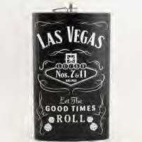 Las Vegas Fläschchen 7& 11Lucky Dice sehr groß 64Oz Fläschchen schwarz mit Las Vegas Magnet (Las Vegas Cup)