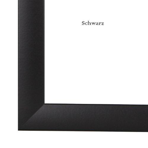 RahmenCenter24 Bilderrahmen OLIMP 84.1x118.9 cm oder 118.9x84.1 cm (DIN A0) in SCHWARZ AntiReflex Kunstglas und Rückwand 35 mm breite MDF-Leiste mit Dekor Folienummantelung