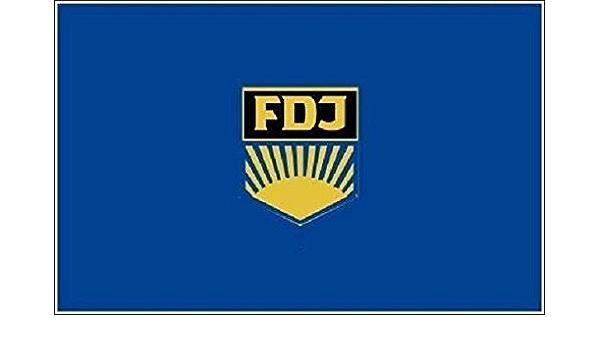 U24 Aufkleber Ddr Fdj Flagge Fahne 8 X 5 Cm Autoaufkleber Sticker Auto