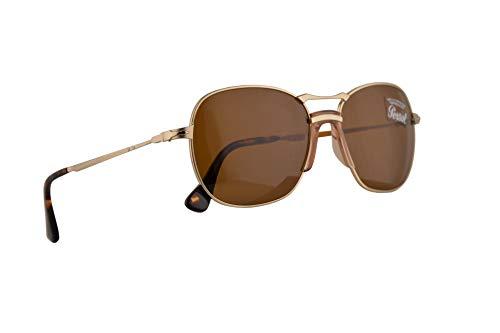 Persol PO2449S Sonnenbrille Gold Mit Braunen Gläsern 56mm 107633 PO 2449S PO 2449-S PO2449-S