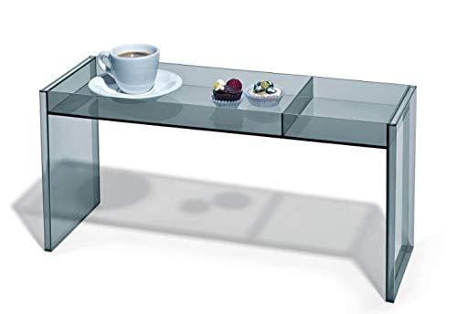 PlexCollection Table Multifonction en plexiglass Transparent