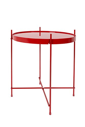 Zuiver Cupid Couchtisch Glas 43x 43x 45cm, rot, 45