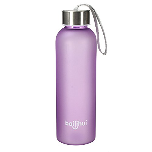 TENGGO 600Ml Sportcampingplatz Reisen Portable Frosted Water Bottle-Lila