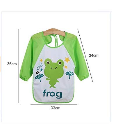 AK.SSI Kinder gedruckt wasserdicht Anti-Dressing Cartoon Kittel Baby Einweg Langarm Lätzchen 1pcs (Style J) - Kind-kittel Einweg