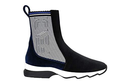 0504046a297c Fendi 8E6631 Sneaker, Bottes pour Femme Noir Noir Bleu 35 EU