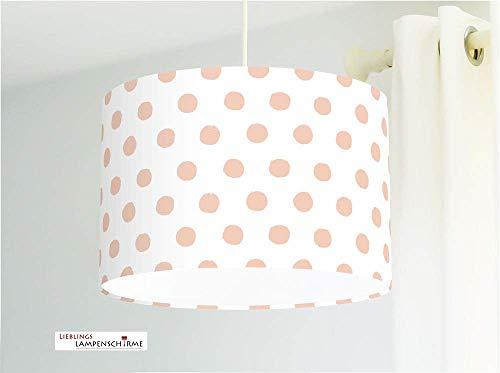 Lampe mit Punkten in Rosé für Kinderzimmer Mädchen Schlafzimmer und Babyzimmer -