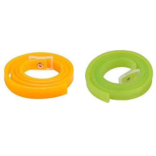 2 STÜCKE Floh Zecken Kragen für Hunde und Katzen,Floh und Zecken Prävention Halsbänder, Hundeflohhalsband, Floh und Zeckenkontrollkragen für Hunde und Welpen, voll verstellbar, 60 cm