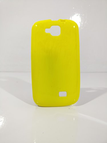 iCandy™ Colorfull Thin Soft TPU Back Cover For Micromax Canvas Fun A63 - Yellow  available at amazon for Rs.109