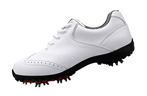 PGM Damen Wasserdichte Golfschuhe mit Spikes