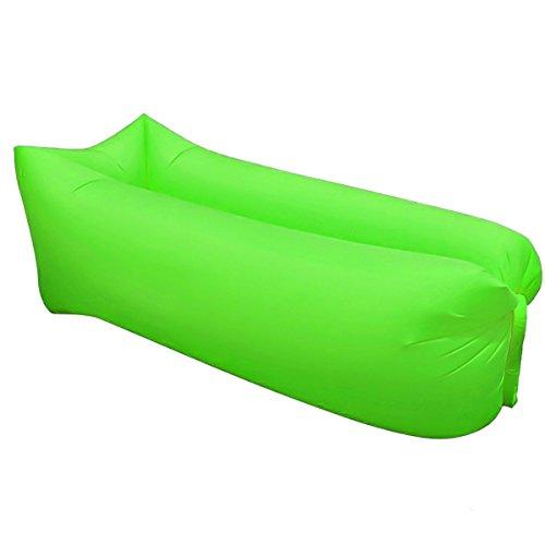 WWSUNNY Tragbares aufblasbares Liege-aufblasbares Sofa, wasserdichter Luft-aufblasbarer Sofa-Sessel für das Reisen, kampierend, wandernd, Pool-Flöße, Strand, Schlafen, Hinterhof (Green)