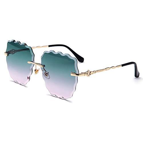 YYTT Sonnenbrille Damen HD Schatten Brille Rahmenlos Augenschutz Polarisiertes Licht draussen Fahren Sonnenbrille Geeignet für alle Gesichtstypen,004