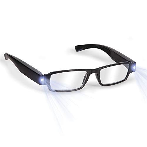 3c4230182c DiiZii Bright LED Gafas de Lectura con Luces Gafas de Lectura Lupa  iluminada Nighttime Reader Clear