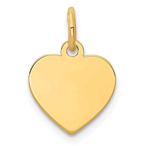 .011Gauge Gravierbarer Herz Disc Charme-(1,6x 1cm) ()