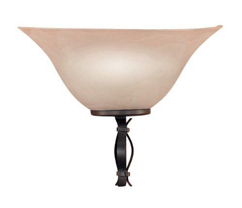Honsel Leuchten 39211 Honsel Wandleuchte rostfarbig antik Glas champ