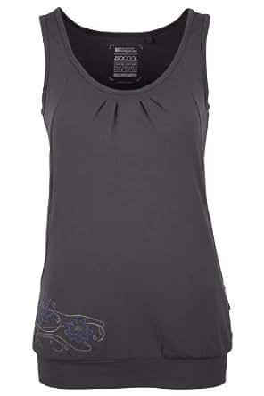 Mountain Warehouse Ashtunga Womens Yoga Pilates Top Active Wicking Vest Cool Baselayer Dark Grey 6
