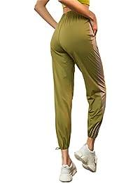 ZHANGLUO Pantalones Deportivos para Mujeres Pantalones Deportivos Casuales Pantalones Holgados y cómodos,Green,M