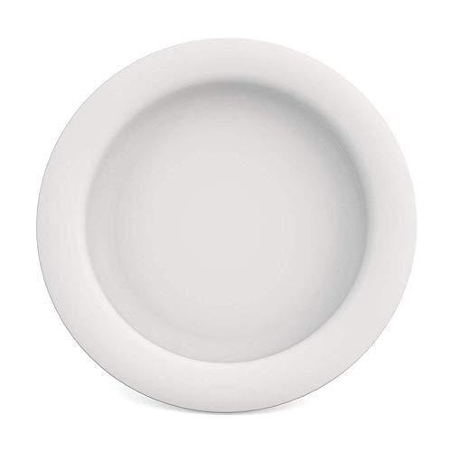 Ornamin Teller mit Kipp-Trick Ø 26 cm weiß (Modell 901) / Spezialteller mit Randerhöhung, Anti-Rutsch-Teller Kunststoff