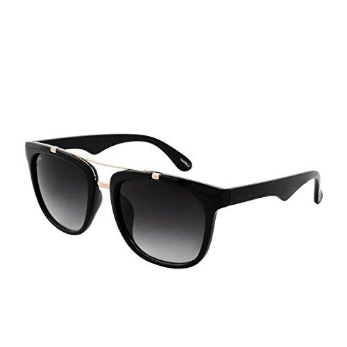 Laurels UV Protected Wayfarer Unisex Sunglasses -(SUP-0801 Black Lens)