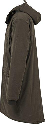 Urban Classics, Herren Jacke - Cotton Peached Canvas Parka, lange Winterjacke (klassischer Parka für Herren und Jungen) mit verstellbarer Kapuze Grün (olive 176)
