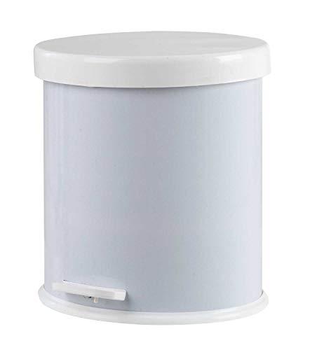 4l Bad Möbel (Nicht Zutreffend Mülleimer Abfalleimer Treteimer   Metall   Kunststoff   Weiß   4 Liter Fassungsvermögen)