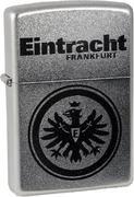 Zippo 27.2607 Feuerzeug Eintracht Frankfurt, Gravur, Chrom Satin -