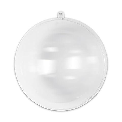 Boule de Noël transparente à garnir 160 mm
