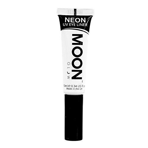 Moon Glow - Neon-UV-Lidstrich 10ml Weiß –ein spektakulär glühender Effekt bei UV- und...