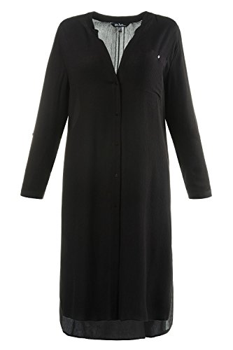 Ulla Popken Femme Grandes tailles Tunique 3 en 1 704874 Noir